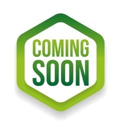Green coming soon button