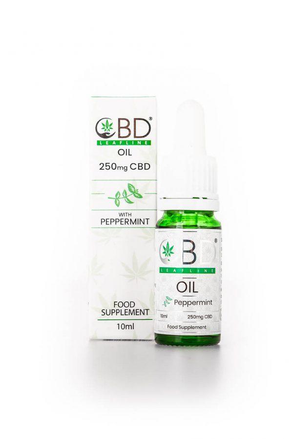 250mg CBD oil - peppermint flavour