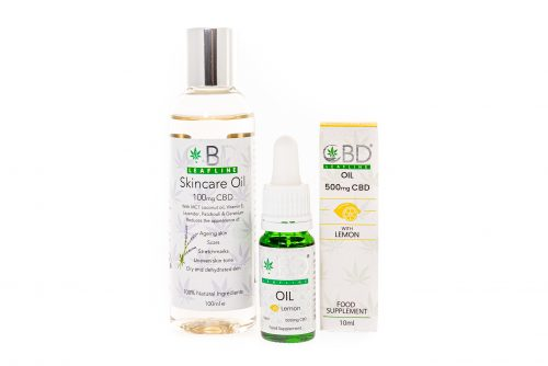 500mg lemon oral drops and skincare oil